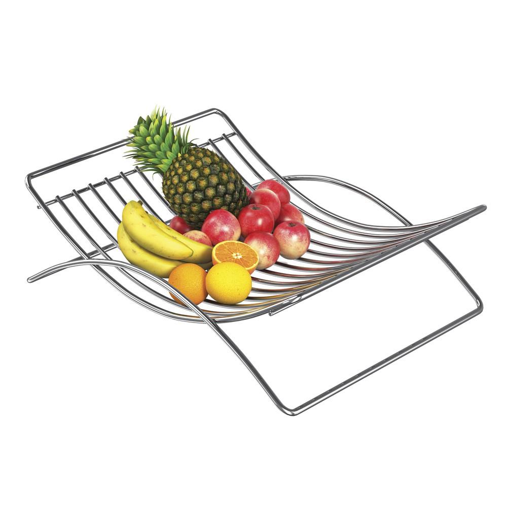 Fruteiro de Aço Cromado e Revisteiro