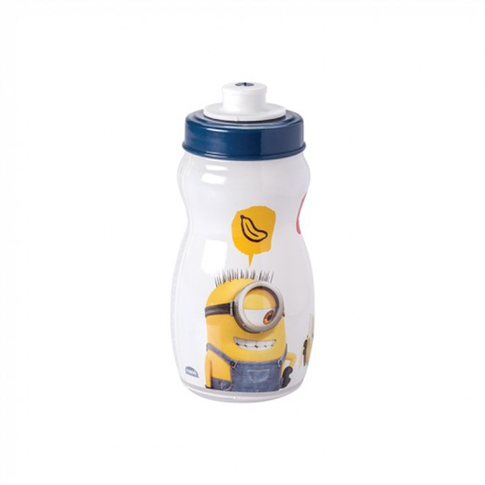 Garrafa Squeeze Plasútil Minions 300Ml de Plástico com Tampa Rosca