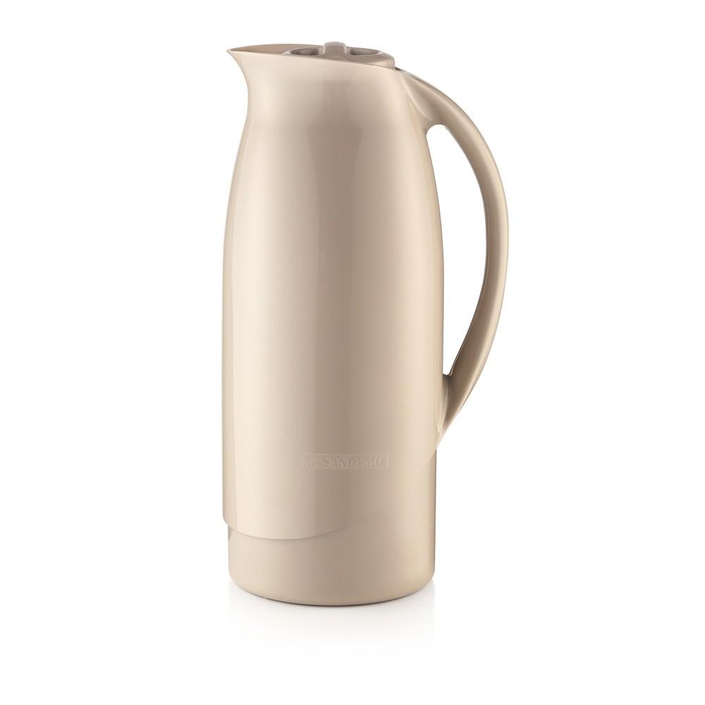 Garrafa ou Bule Térmico 1L de Plástico Celebrar Bege