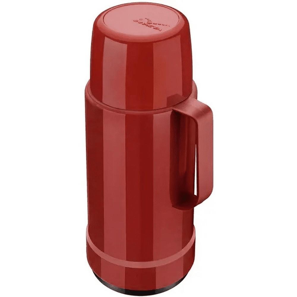 Garrafa Térmica 1L de Polipropileno com Rolha Galant Vermelho Velvet