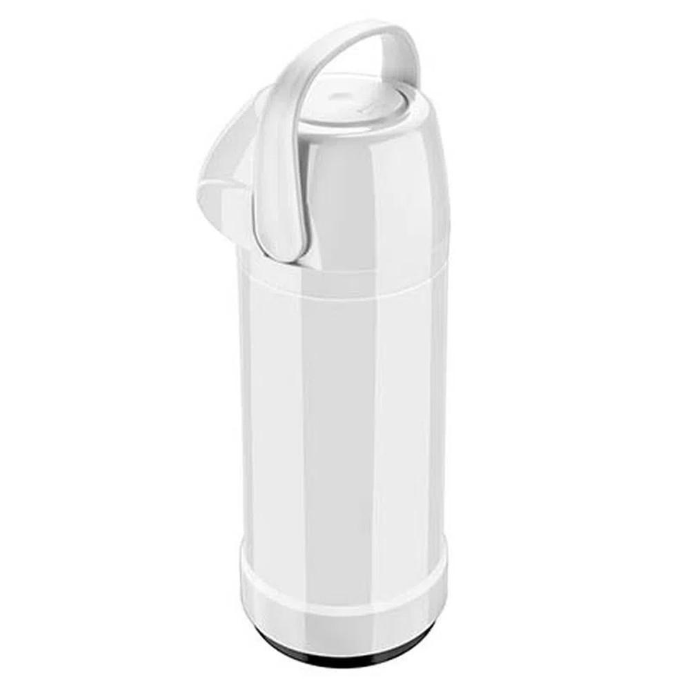 Garrafa Térmica de Polipropileno Pressão 1L Branca Galant