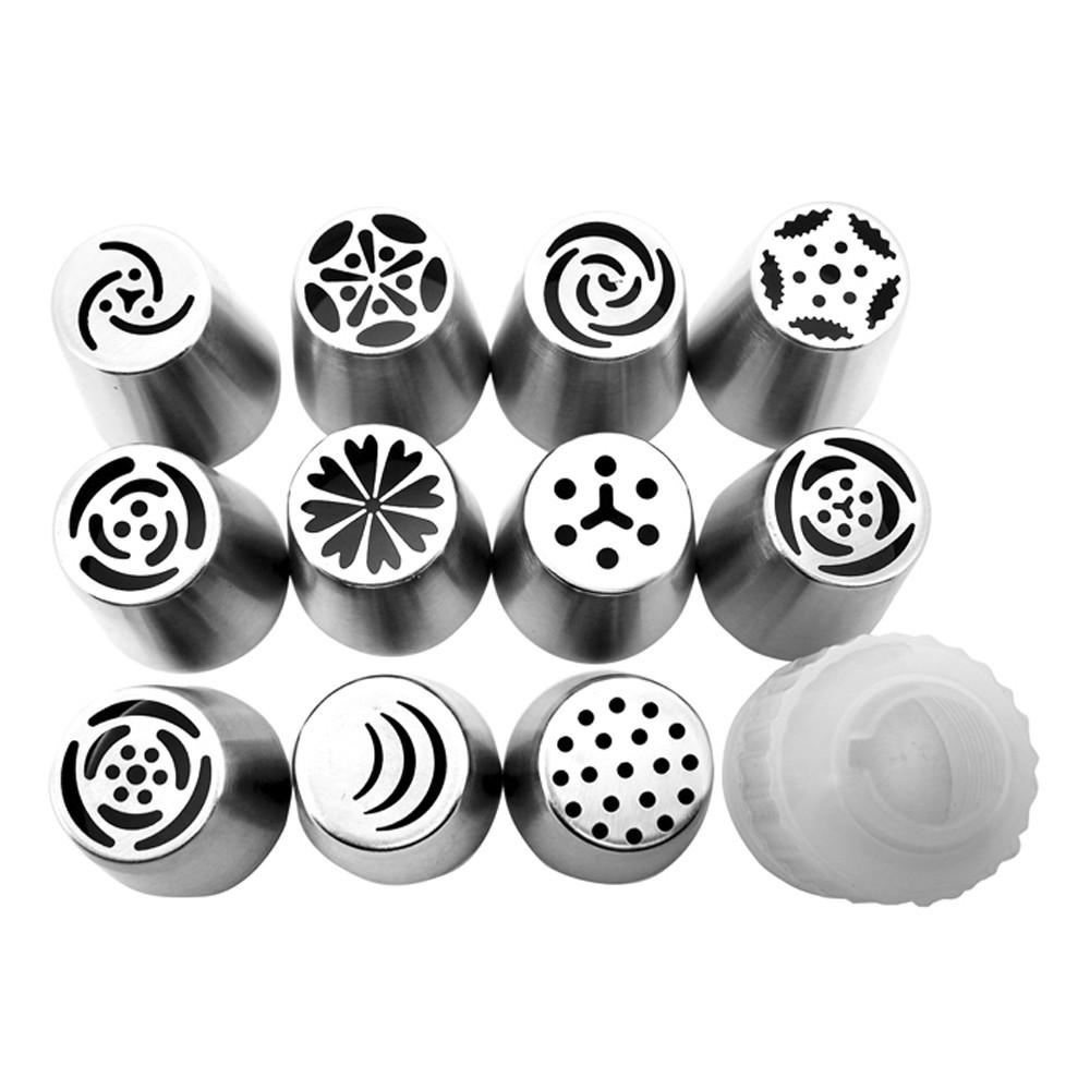 Jogo de Bicos Russo para Confeitar 12 peças de Aço Inox Carol