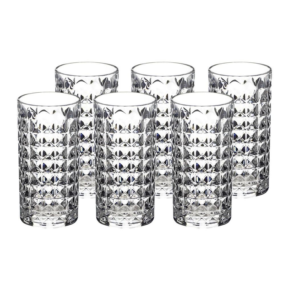 Jogo de Copos com 6 Peças de Vidro 300Ml Altos Diamond