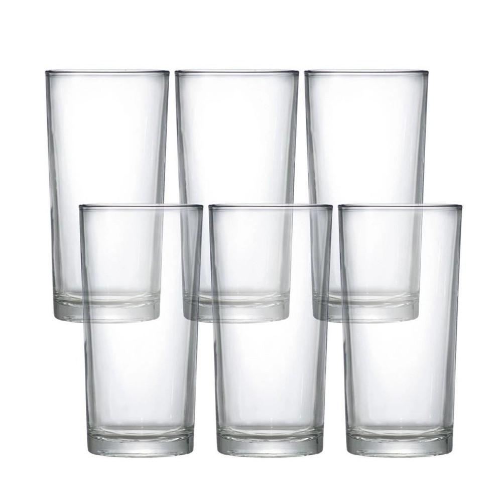 Jogo de Copos com 6 Peças de Vidro para Long Drink 255Ml