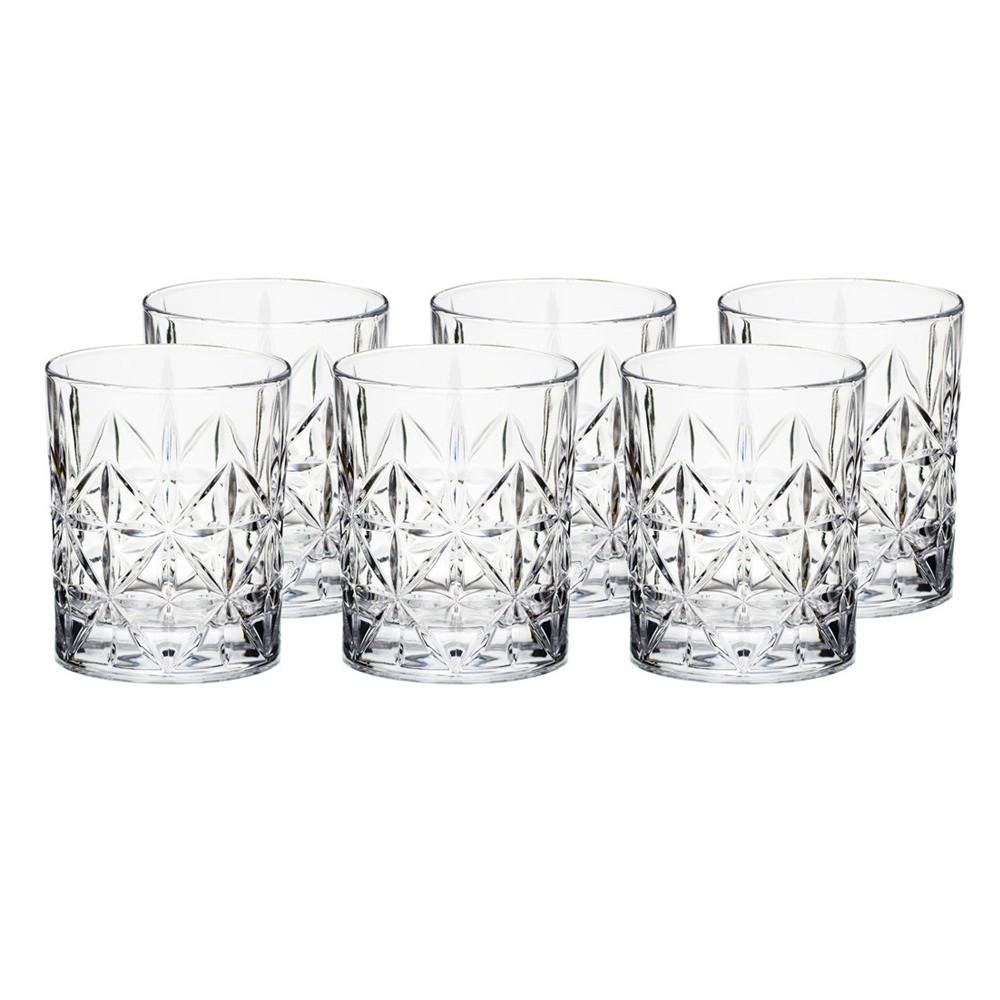 Jogo de Copos 6 Peças de Vidro para Whisky 320Ml