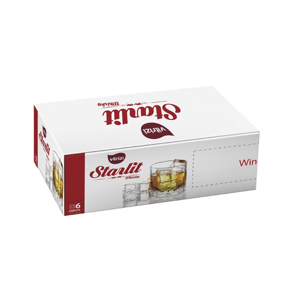 Jogo de Copos Yangzi Starlit 310ml de Vidro para Whisky 6 Peças