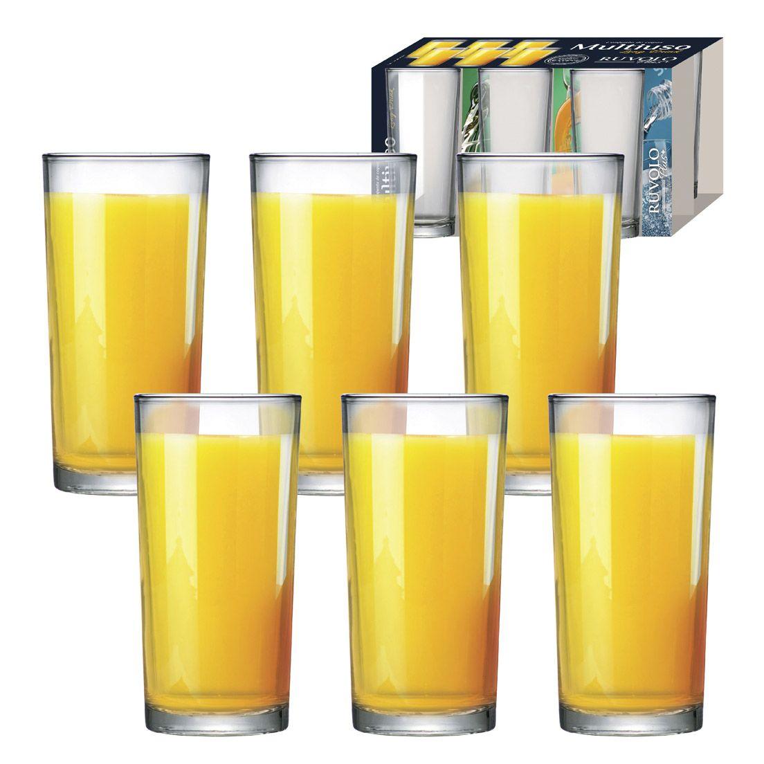 Jogo de Copos 6 Peças de Vidro para Long Drink 255Ml
