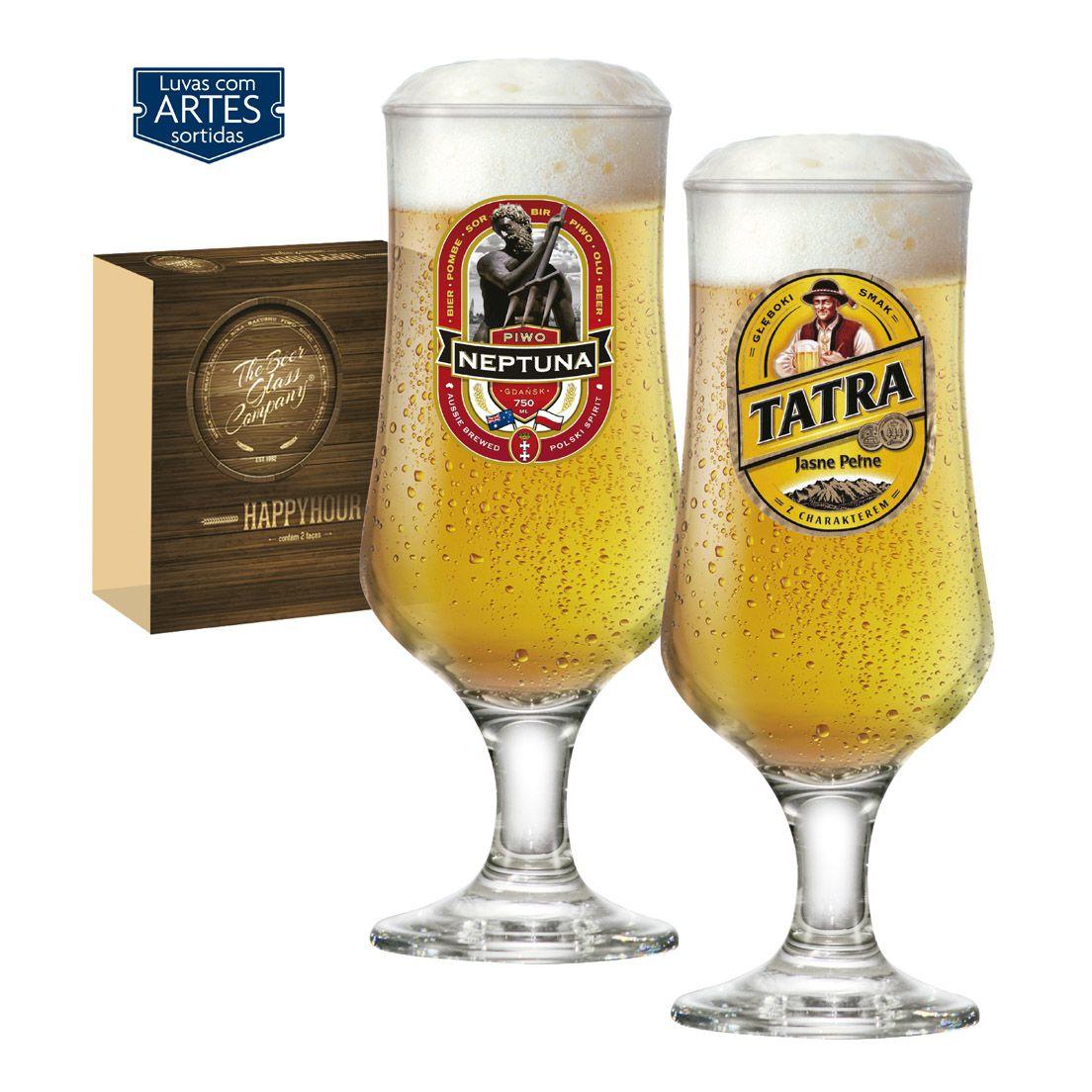 Jogo de Taças para Cerveja com 2 Peças de Vidro 400Ml Barcelona Happy Hour