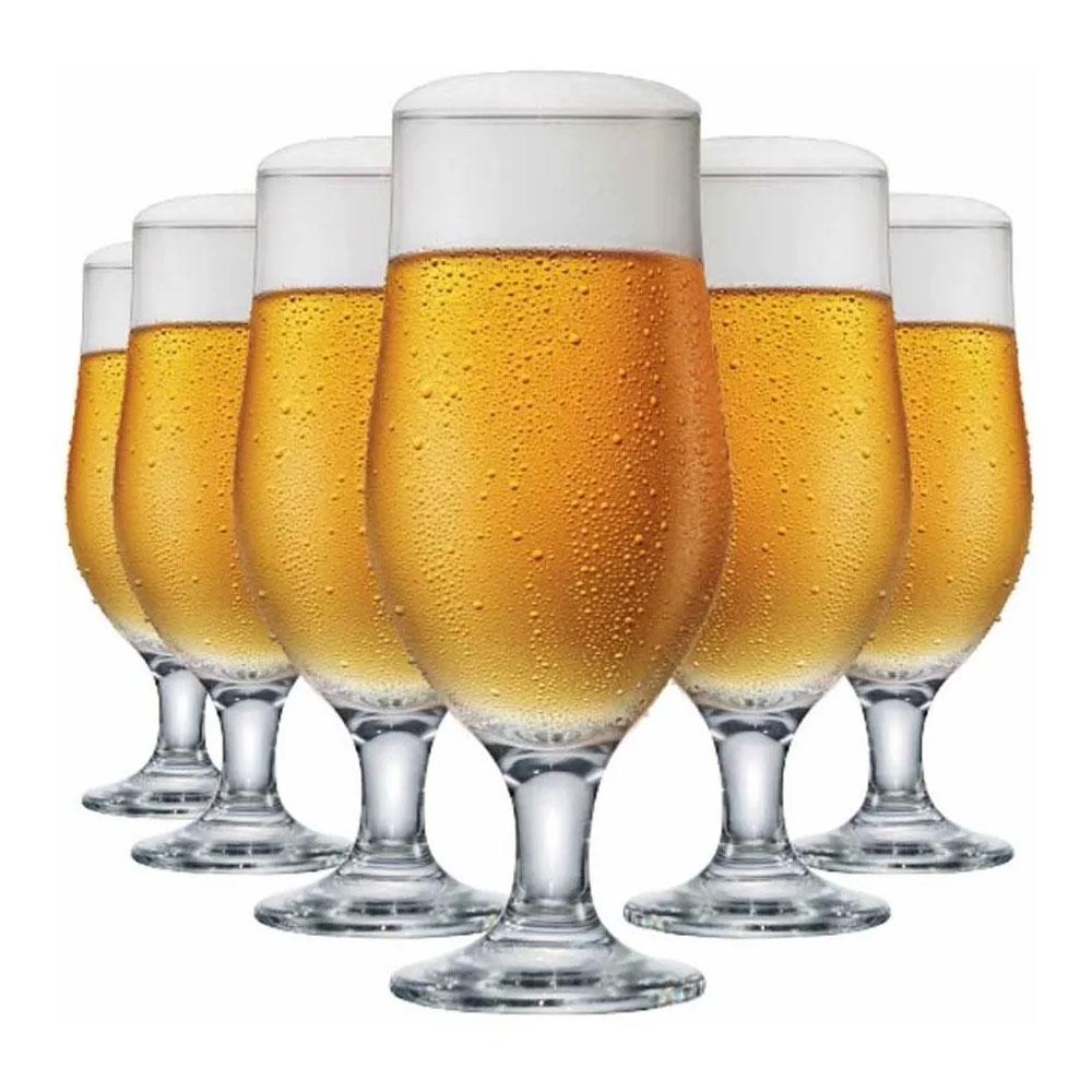 Jogo de Taças para Cerveja com 6 Peças de Vidro 330Ml Berlin Happy Hour
