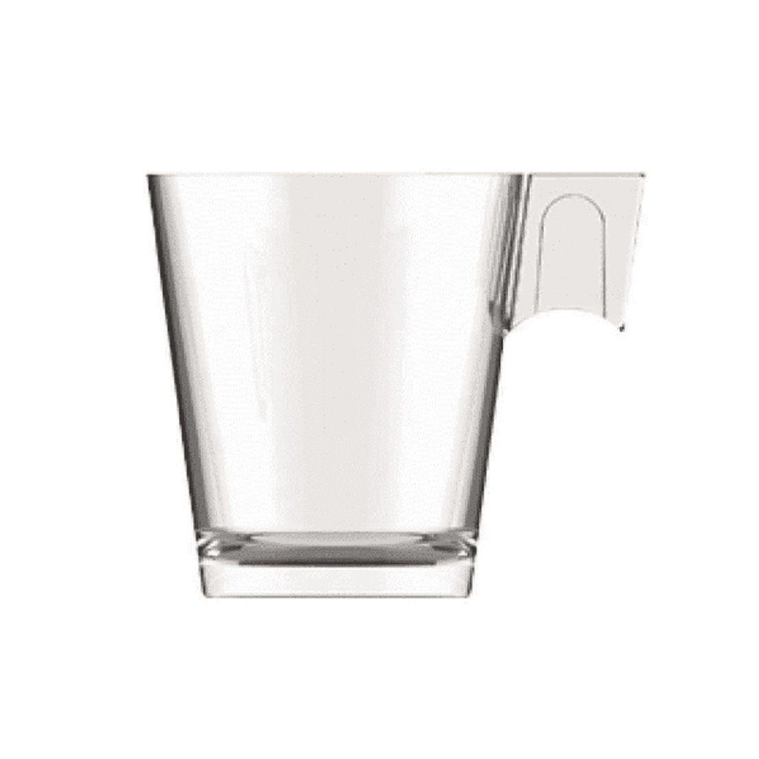 Jogo de Xícara de Vidro para Café 80Ml - 6 Peças