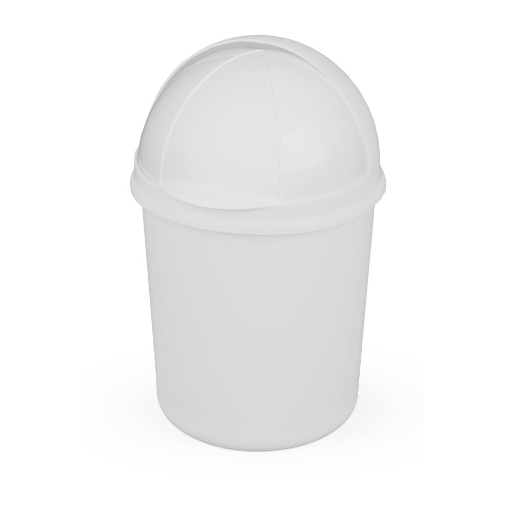 Lixeira 4,1L de Plástico Retrátil Branca