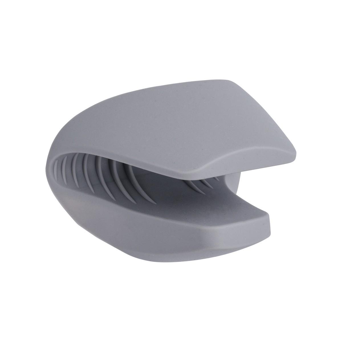 Luva Térmica para Cozinha de Silicone com Bico Cinza para Altas Temperaturas