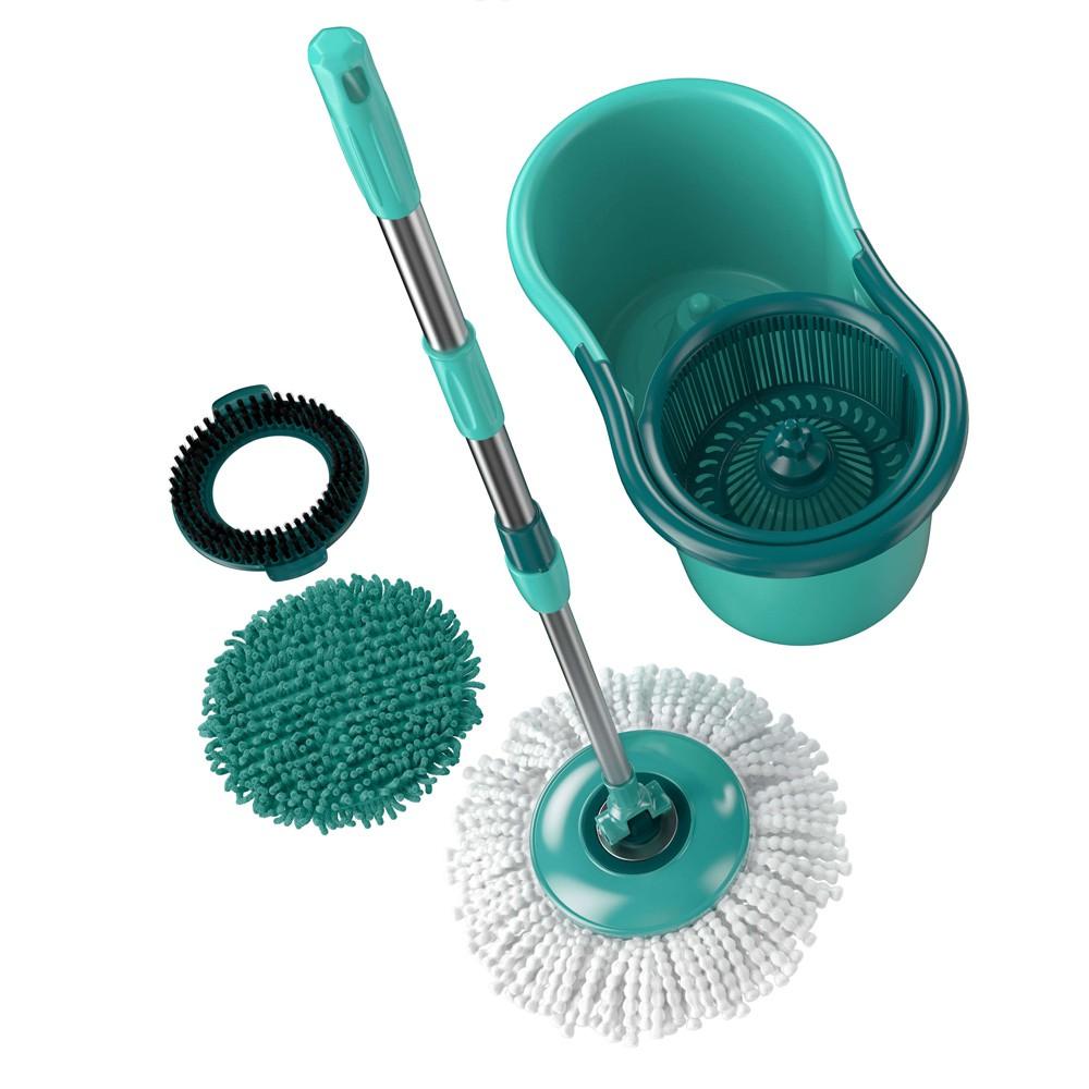 Mop Giratório Flash Limp 12L 3 em 1 Verde