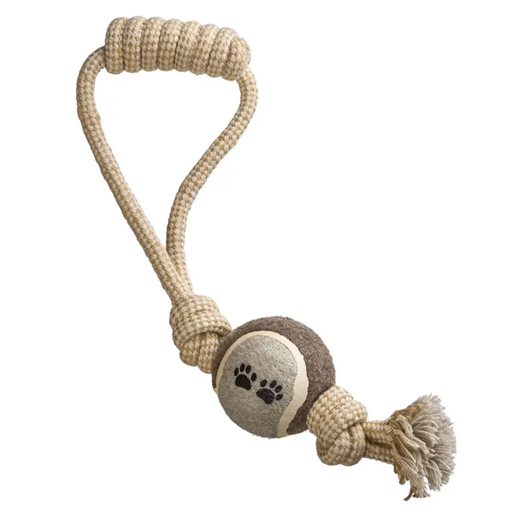 Brinquedo Mordedor para Pet em Corda com Bola de Plástico Sanremo