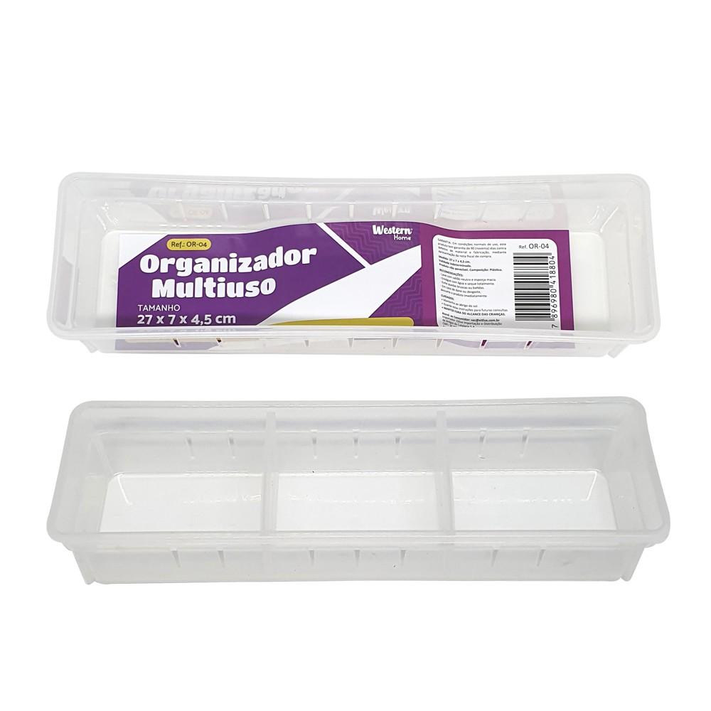 Organizador Multiuso Branco 27 X 8Cm