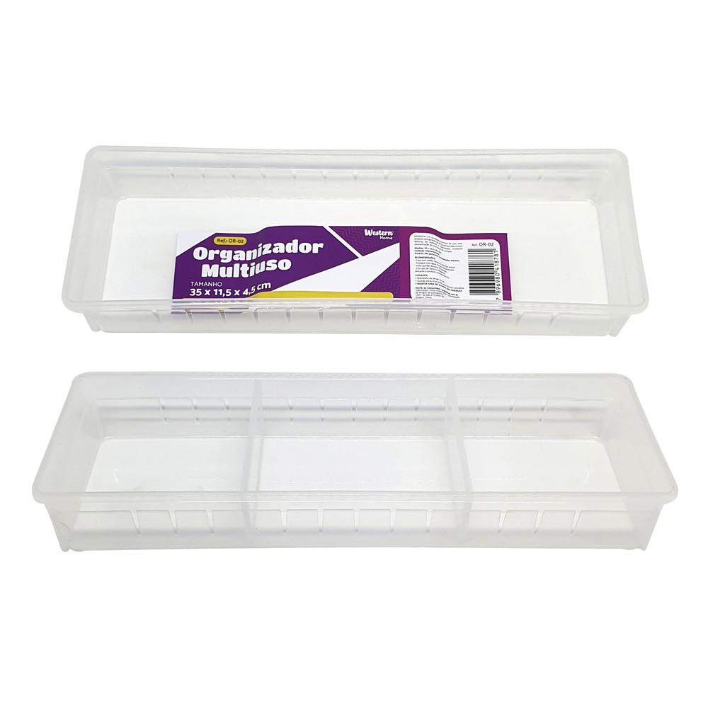 Organizador Multiuso Branco 35 X 11,5Cm