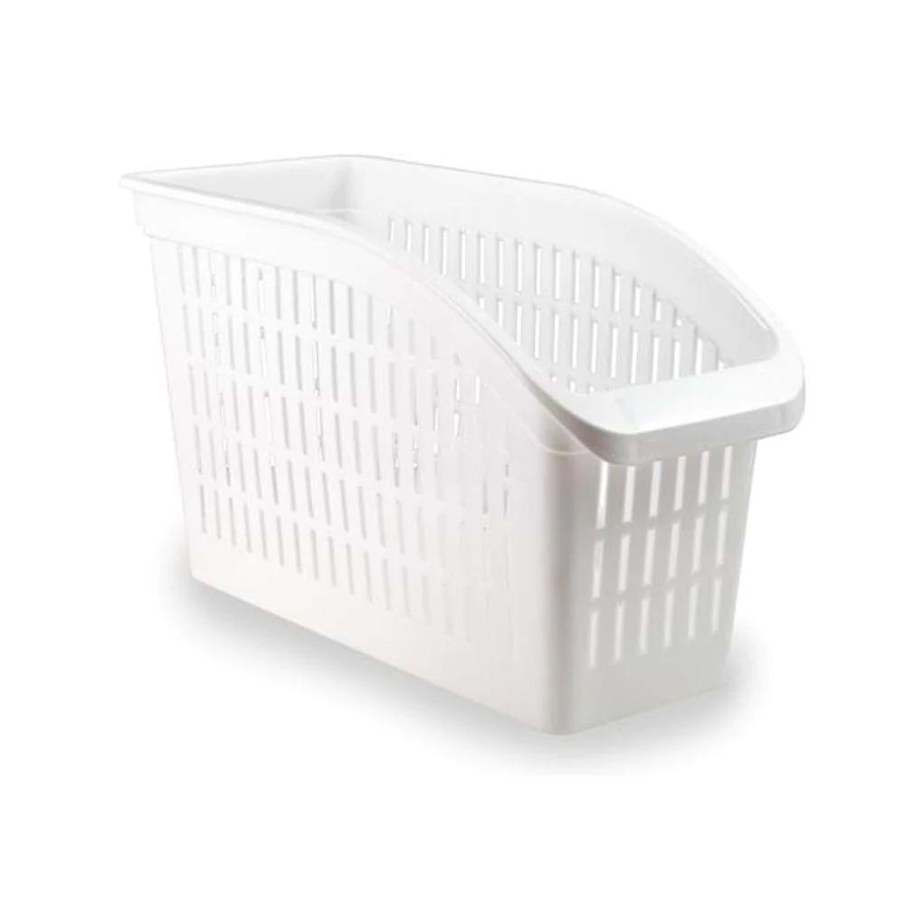 Organizador para Freezer e Geladeira de Plástico Retangular Branco