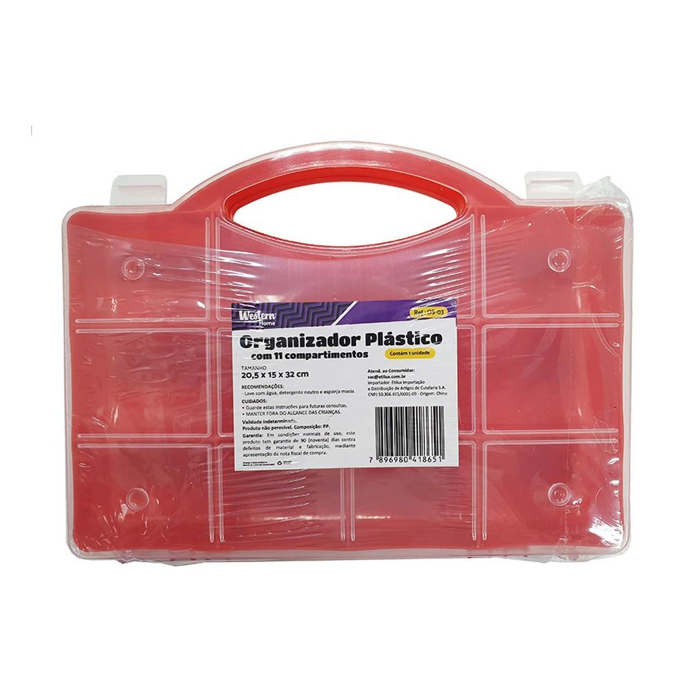 Organizador Plástico com 11 Compartimentos