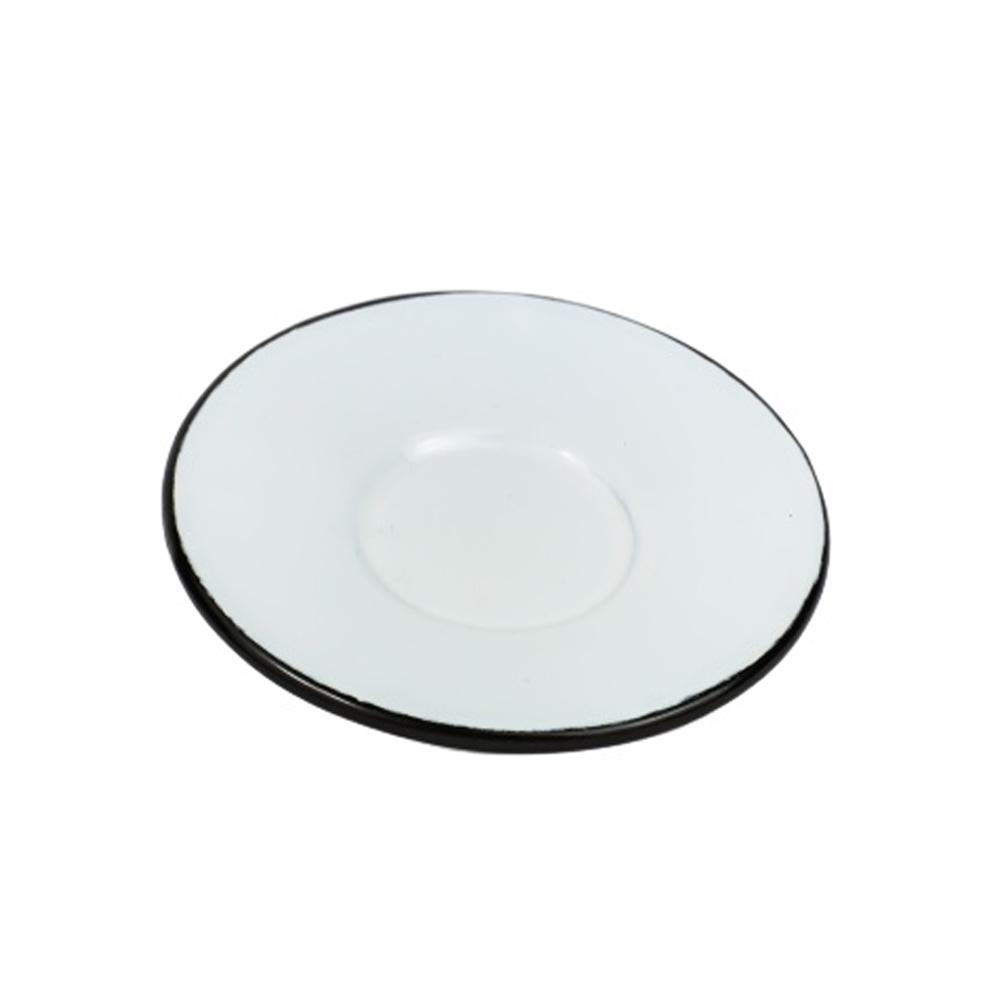 Pires 8Cm para Xícara de Aço Carbono Esmaltado Branco