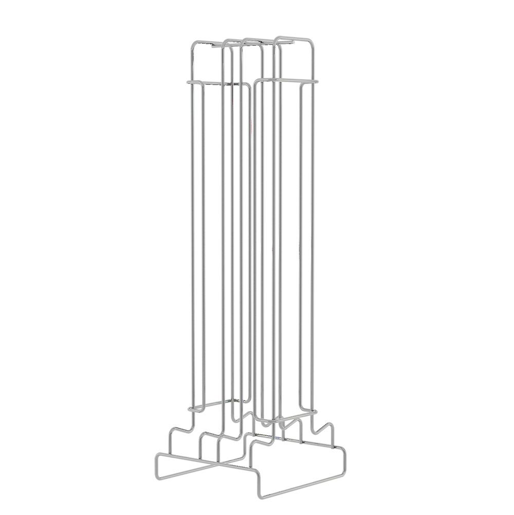 Porta Cápsulas de Aço Cromado para 40 Unidades 14 X 38Cm - Compátivel Nespresso