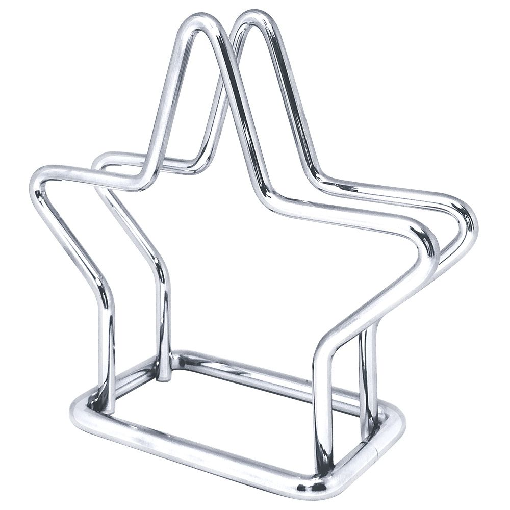 Porta Guardanapos de Aço Cromado Estrela
