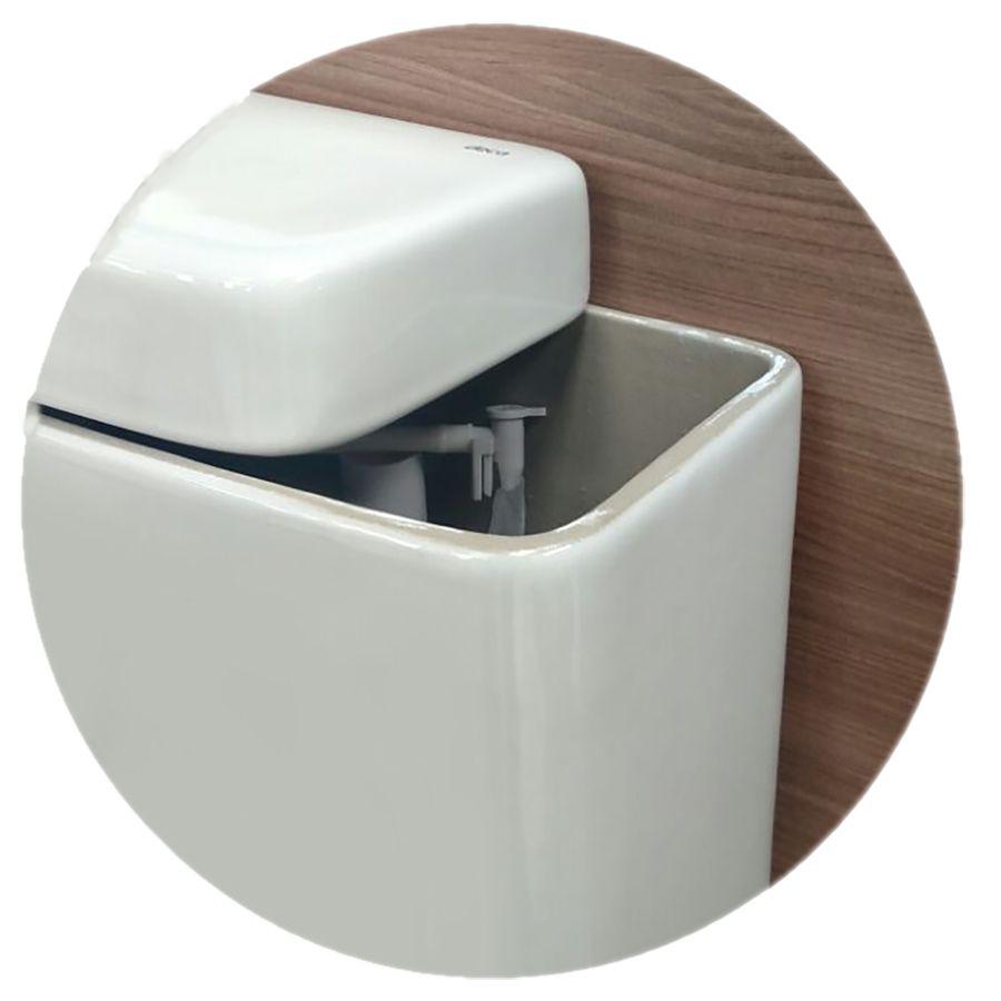 Suporte Papel Higienico de Aço Cromado Simples para Caixa Acoplada Cromado