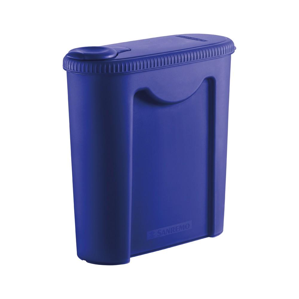 Porta Ração de Plástico 2,35L Azul Sanremo