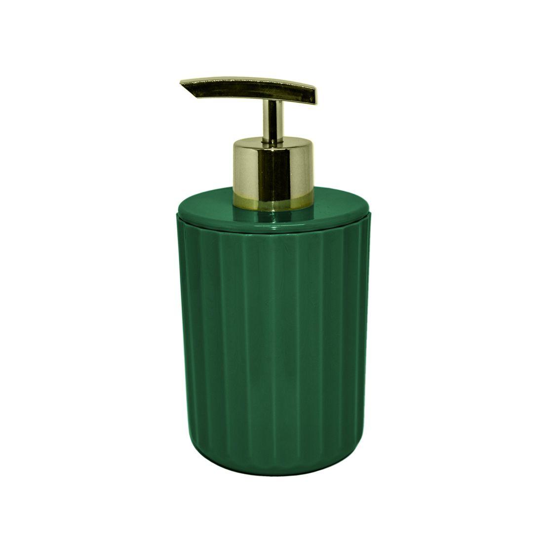 Porta Sabonete Liquido Groove Verde Botânico