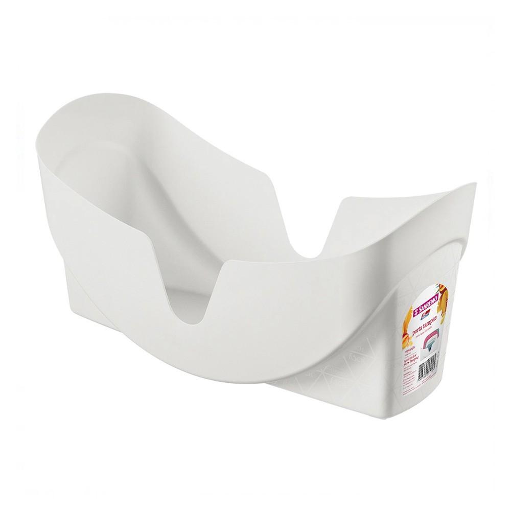 Porta Tampas de Plástico Branco Sanremo 30Cm