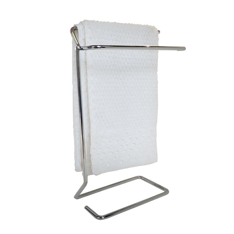 Porta Toalha para Rosto de Aço Cromado Single para Bancada