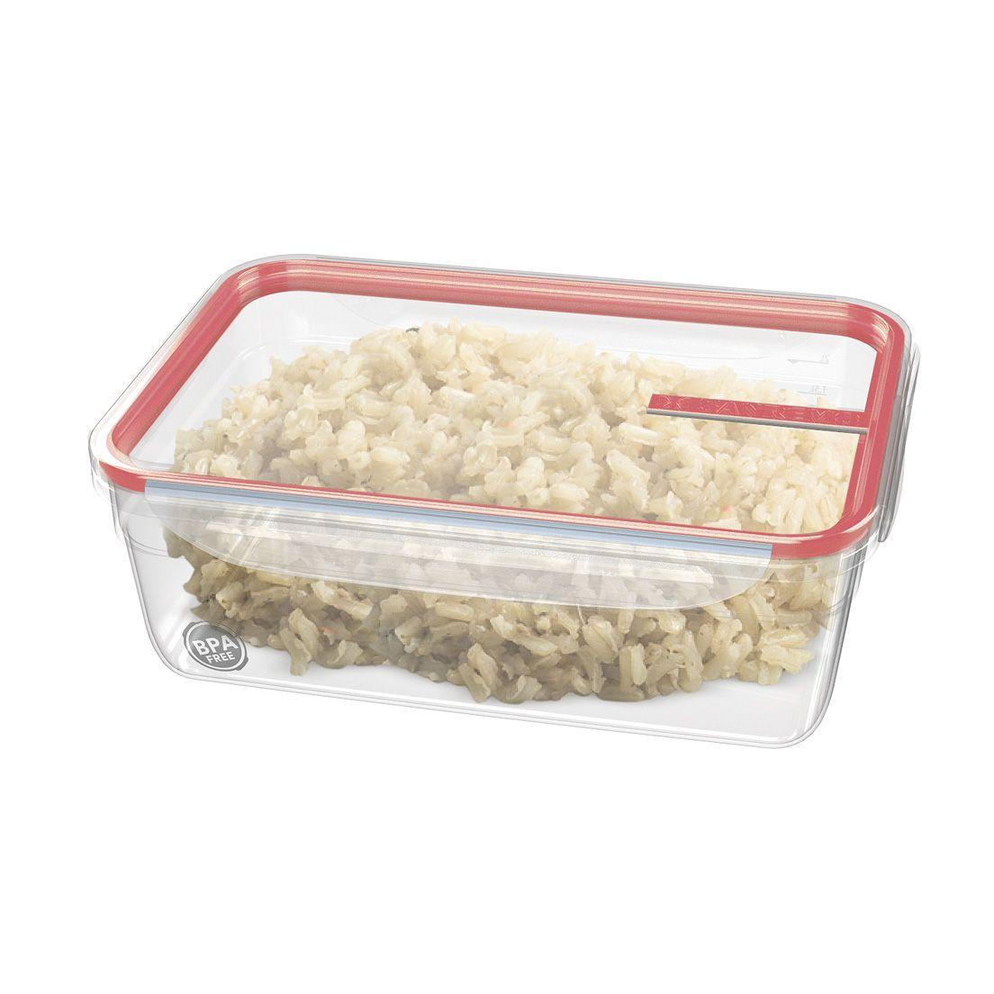 Pote Sanremo 2,5L de Plástico com Travas Coral