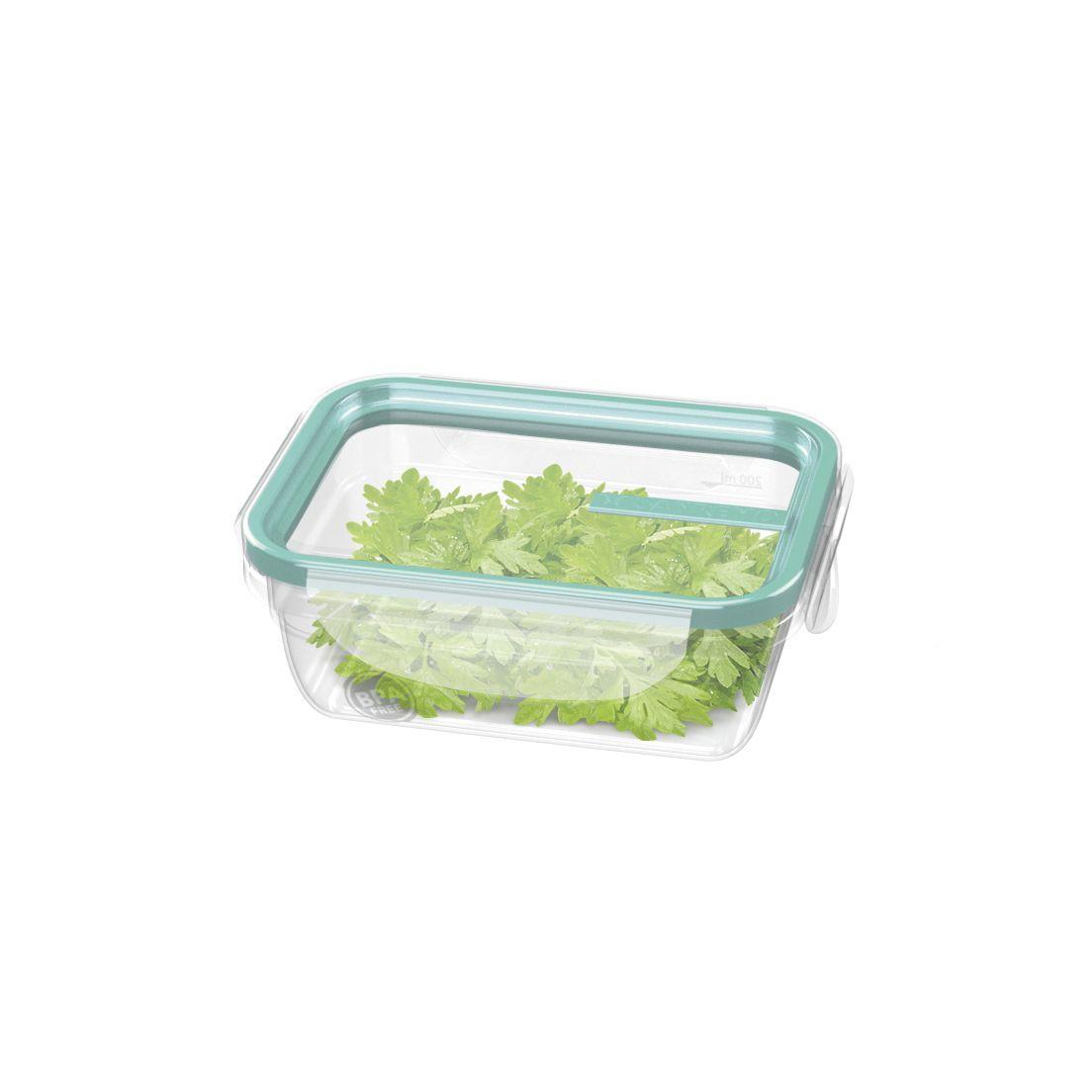 Pote de Plástico com Travas Sanremo Verde 330Ml