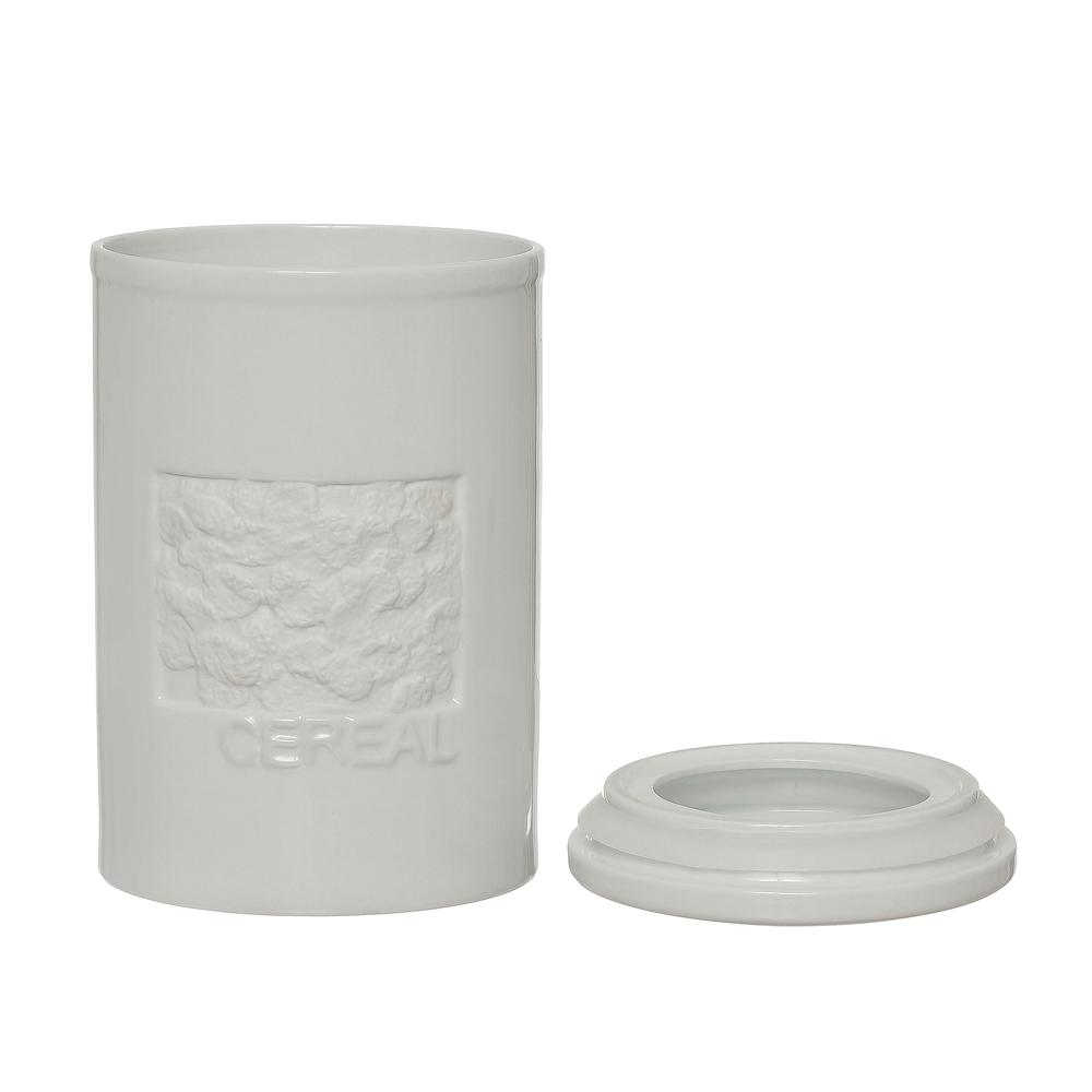 Pote de Porcelana para Cereais com Vedação em Silicone