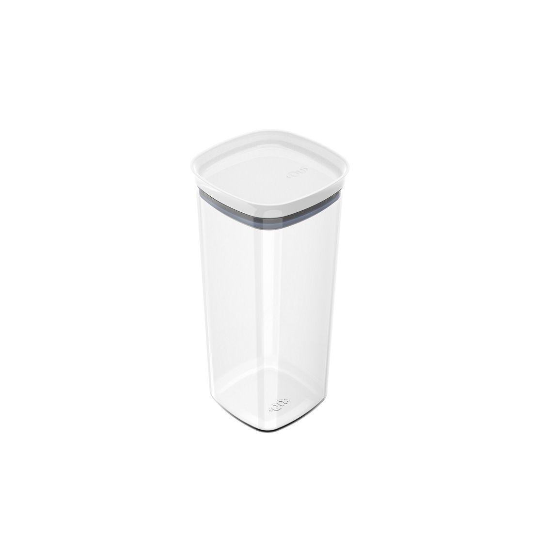 Pote de Plástico com Tampa Hermética Block 1,5L Branco