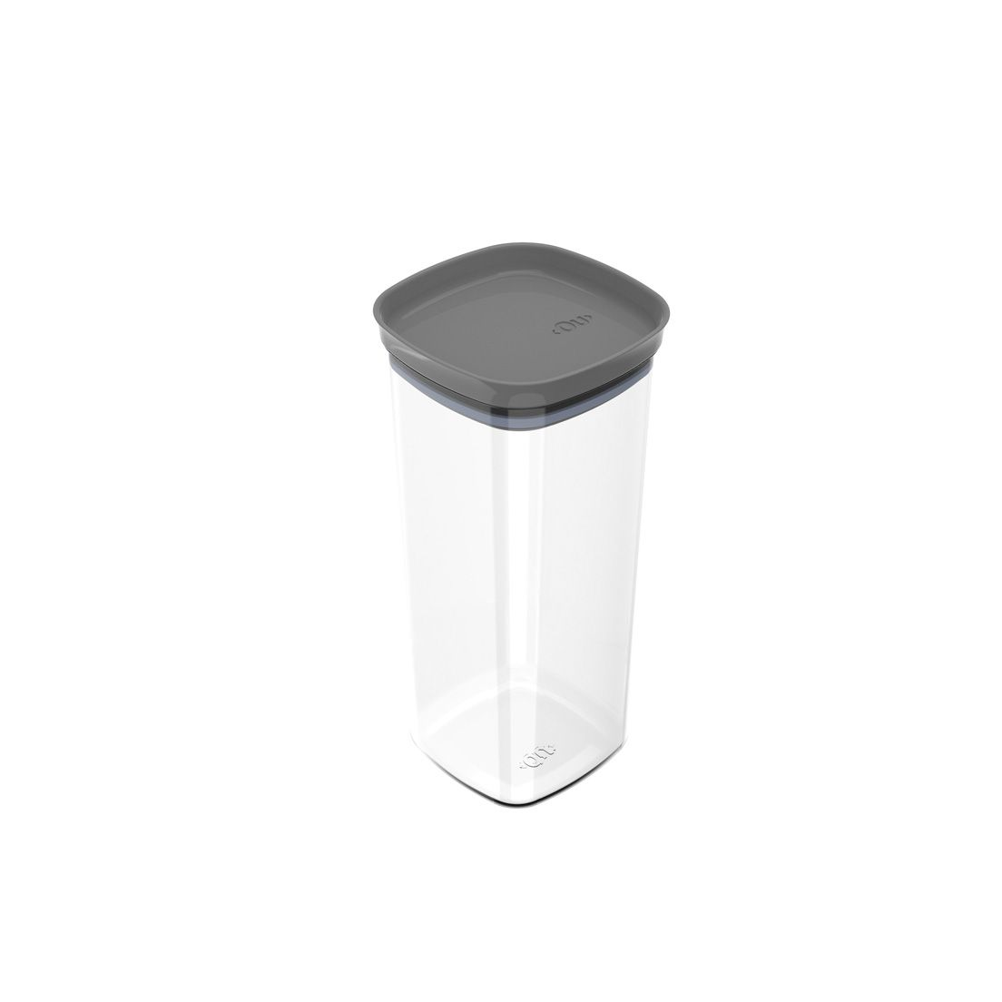 Pote de Plástico com Tampa Hermética Block 1,5L Chumbo