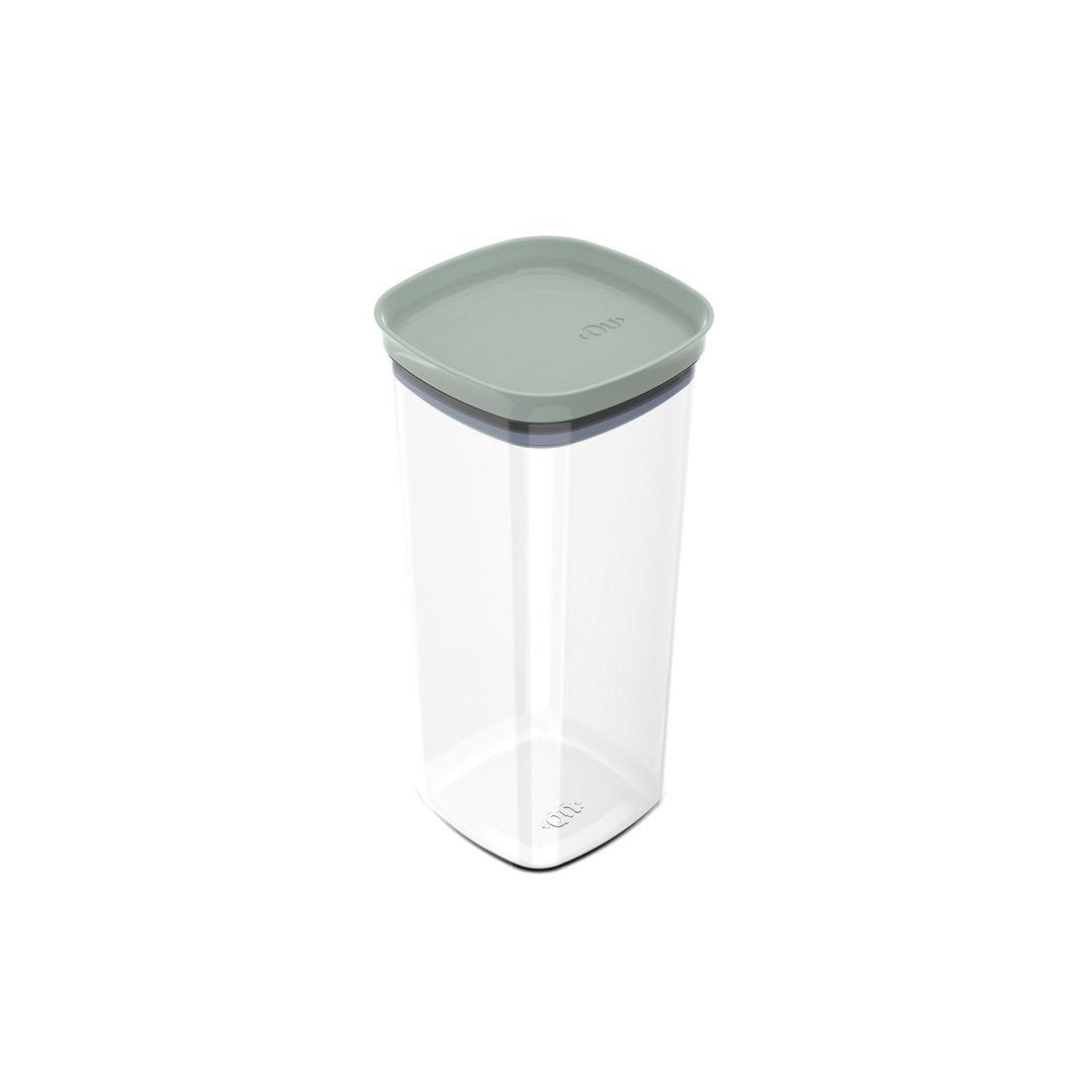 Pote de Plástico com Tampa Hermética Block 1,5L Verde Menta