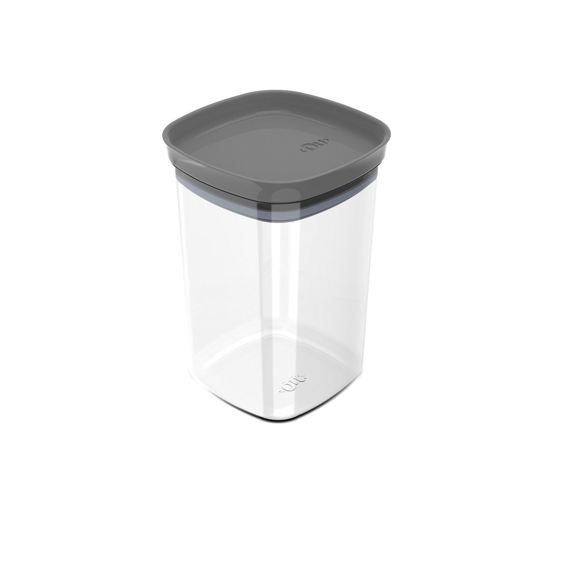 Pote de Plástico com Tampa Hermética Block 1L Chumbo
