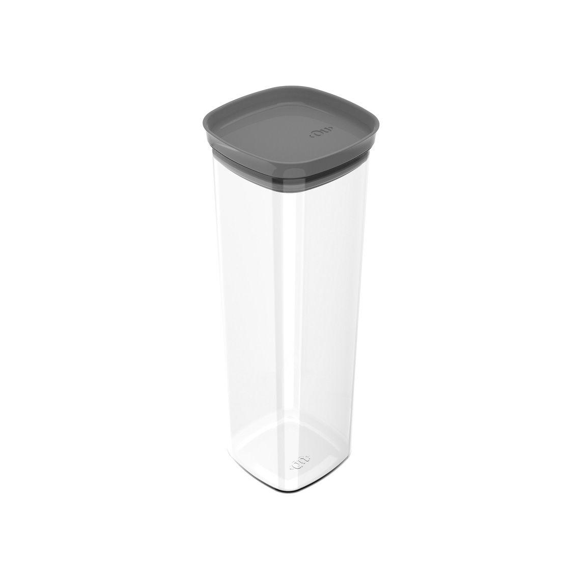 Pote de Plástico com Tampa Hermética Block 2L Chumbo