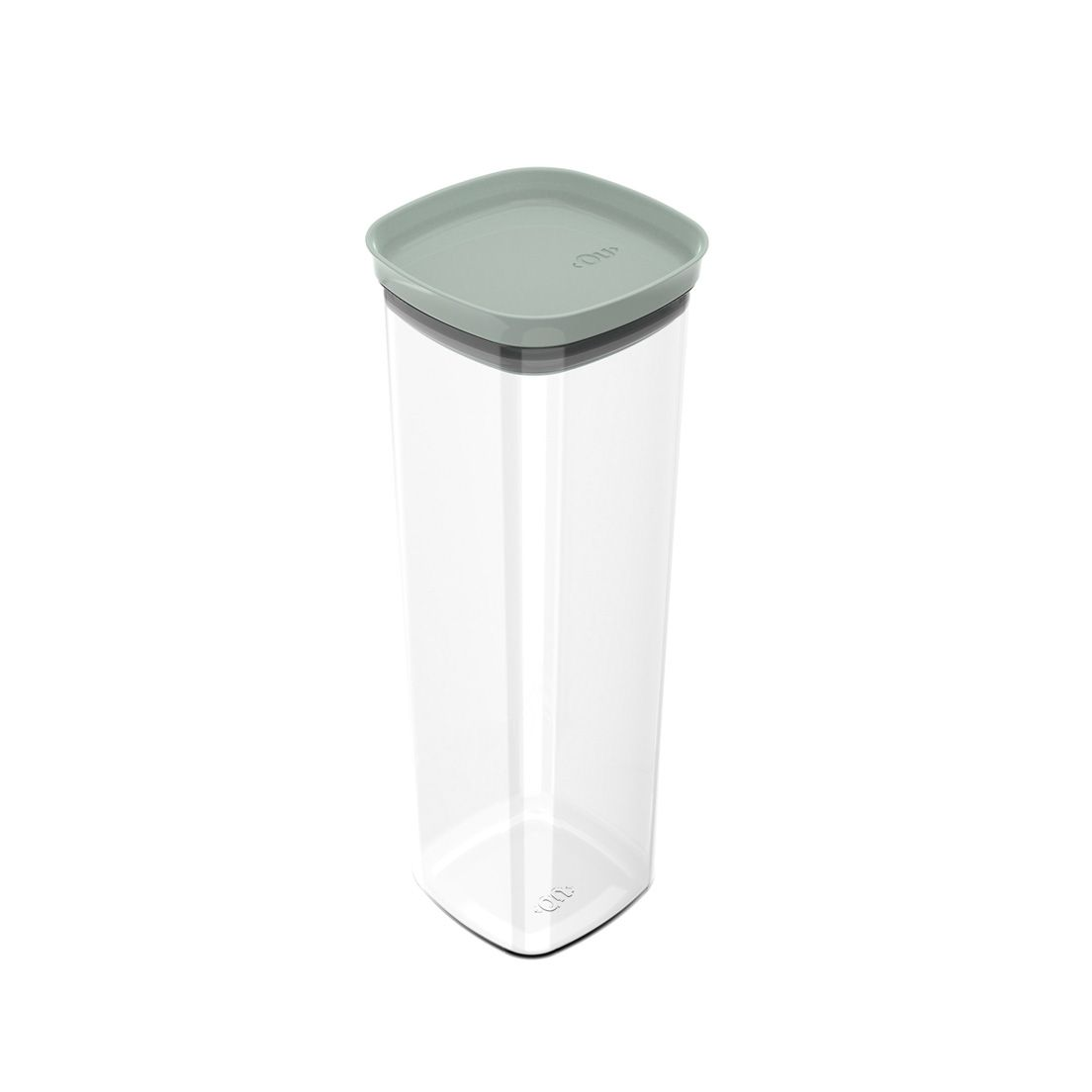 Pote 2L de Plástico com Tampa Hermética Block Verde Menta