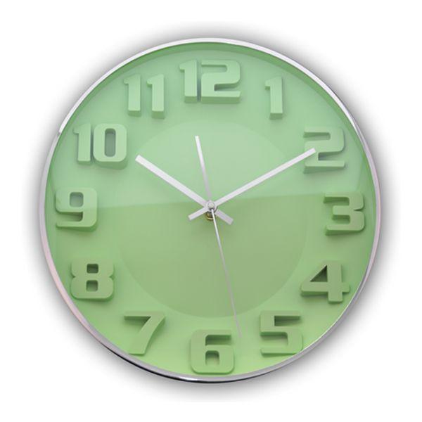 Relógio para Parede de Plástico Verde 33Cm