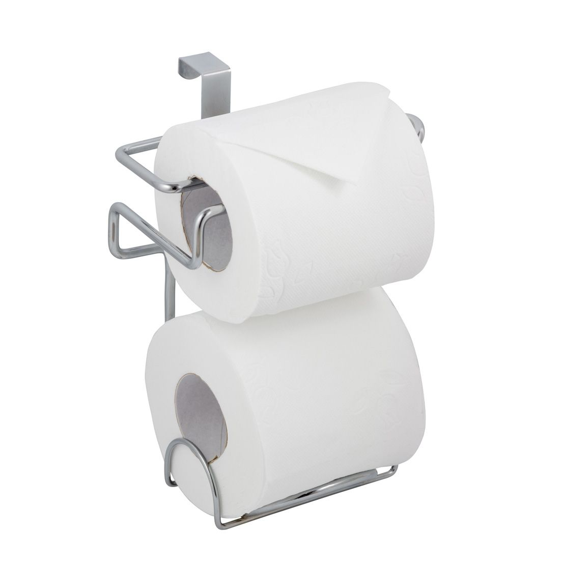 Suporte Papel Higiênico de Aço Cromado Duplo Luxo