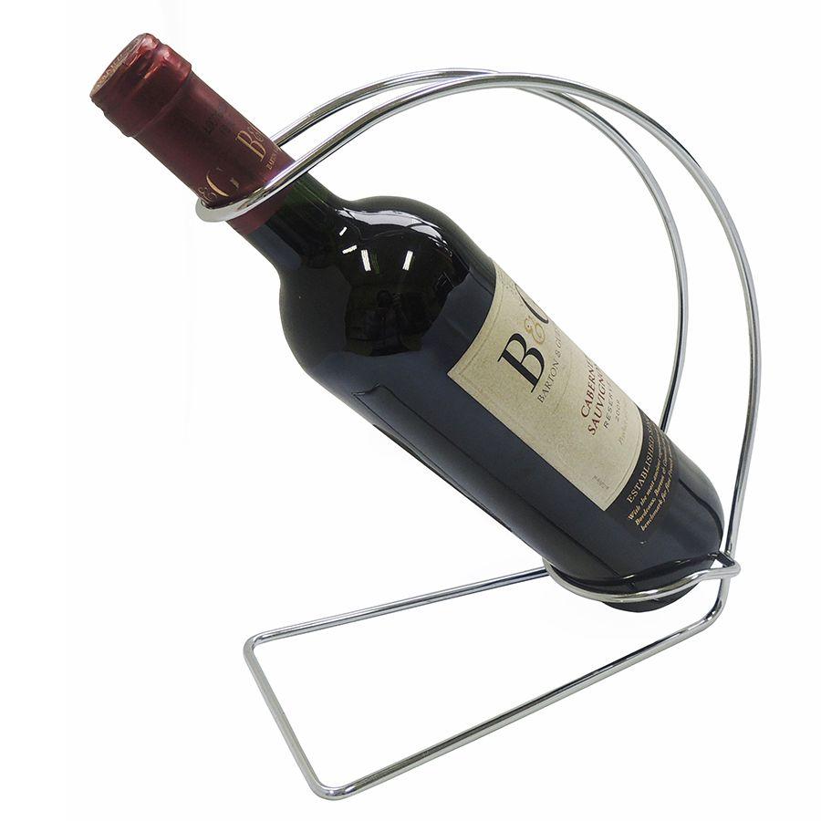 Suporte para Garrafa de Vinho Duler de Aço Cromado