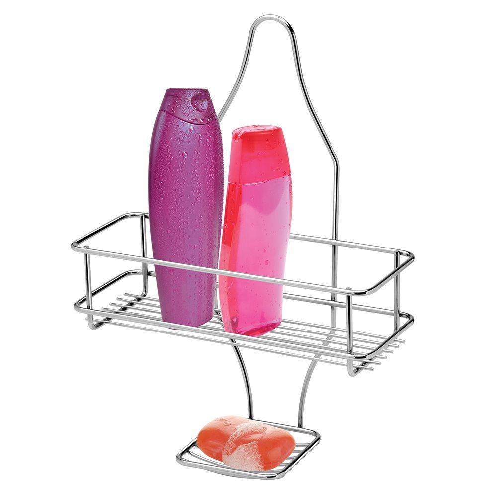 Suporte para Shampoo e Sabonete de Aço Cromado de Registro