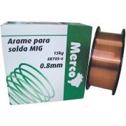 ARAME P/SOLDA MIG MERC 0,8MM ROL 15 KG