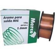 ARAME P/SOLDA MIG MERC 1,0MM ROL 15 KG