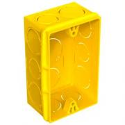CAIXA P/LUZ EMB. PLAST. 4 X 2 AMARELA FORTLEV 0423