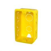 CAIXA P/LUZ EMB. PLAST. 4 X 2 AMARELA KRONA REF 1265