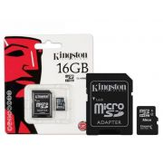 CARTAO DE MEMORIA MICRO SD KINGSTON 16GB