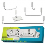 KIT ACESS  5 PÇ  IDEA CHROME DOCOL 6306