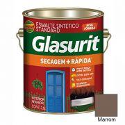 TINTA GLASURIT ESMALTE SINTÉTICO BRILHANTE MARROM 3,6L